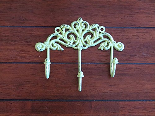 Shabby Chic Wall Hook / Cottage Chic Hook / Key Hanger / Apple Green or Pick Your Color / Key Hook Rack / French Cottage / Towel Hook