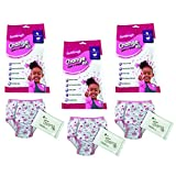 Handcraft Toddler Kids 3-Pack Emergency Kit with Underwear + Wipes for Boy Or Girl, Girl/Change Kit T/T, 4T/5T