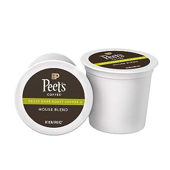 Peet's Coffee Decaf House Blend Dark Roast K Cup