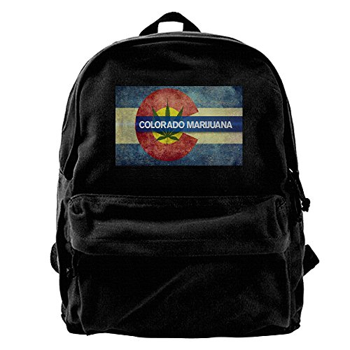 Colorado Cool Spacious Enough Unisex Canvas Backpack 11.8x15.74x5.5 Inch For Tourism Travel Backpack Fits 14 Inch Laptop ()