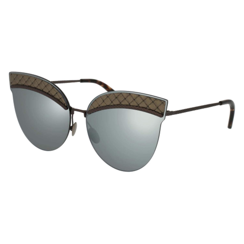 f81ffa97a944c Sunglasses Bottega Veneta BV 0101 S- 001 001 BLACK   GREY   RUTHENIUM at  Amazon Women s Clothing store