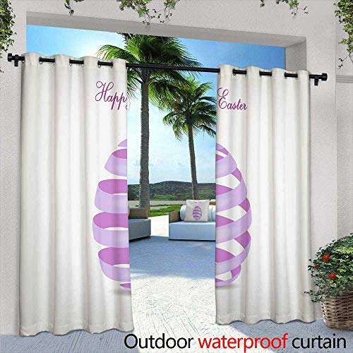 berrly Fashions Drape,View of an European Countryside During tthe Winter Day,W96 x L96 Outdoor Curtain for Patio,Outdoor Patio Curtains