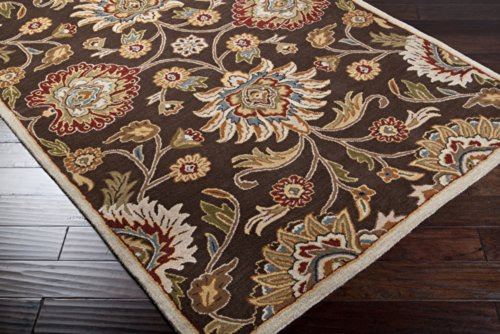 picture of Surya Caesar CAE-1051 Classic Hand Tufted 100% Wool Dark Chocolate 6' x 9' Oval Traditional Area Rug