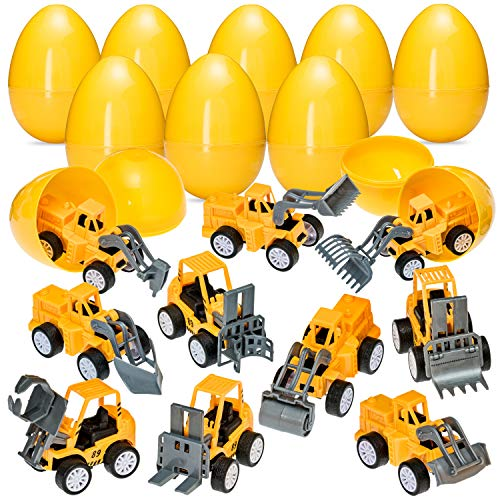 Easter Eggs with Pull Back Construction Cars - Jumbo 3