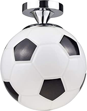 Lámpara de techo con diseño de balón de fútbol, lámpara colgante ...