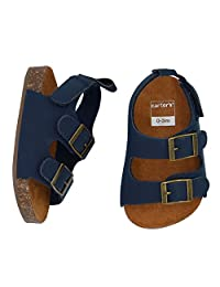 Carter's Boys' Sandals Flat, Navy, Cork Sole, 6-9 Months, Size 3 Regular US Infant