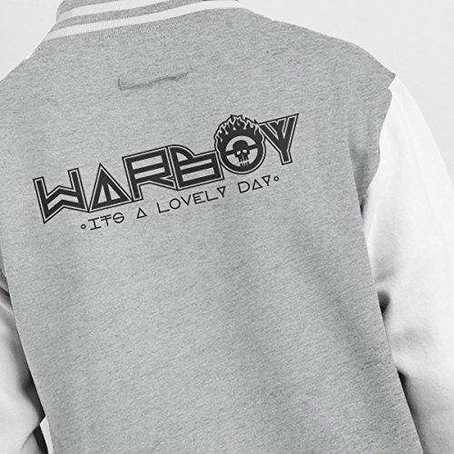 Jacket Car Varsity Men's Grey Mad Max Warboy white Sticker Heather f6dqPwxYn