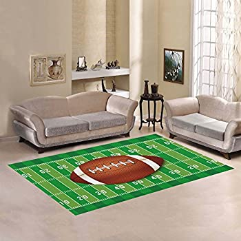 D Story Floor Decor Football Emblem And Badges With American Area Rug Carpet 7x5 For Living Room Bedroom