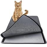 Paws & Pals Cat Litter Mat 30' x 23' Inch Jumbo Large Size Non Slip Litter Trap Pad Litter Boxes - Gray