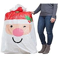 Hallmark Jumbo Christmas Gift Bag (Extra Large Santa Bag...