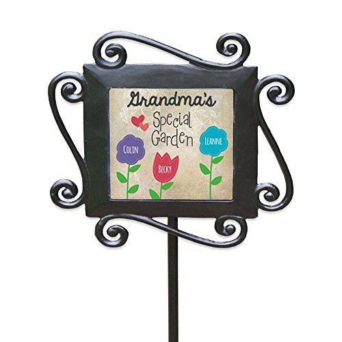 GiftsForYouNow Grandma's Special Garden Personalized Garden Stake, 3 names by GiftsForYouNow