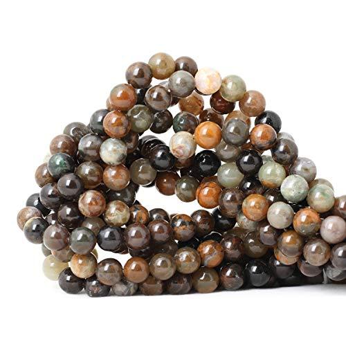 - Qiwan 45PCS 8mm Wholesale Natural Ocean Jade Gemstone Smooth Round Loose Beads for Jewelry Making DIY Crafts Design 1 Strand 15