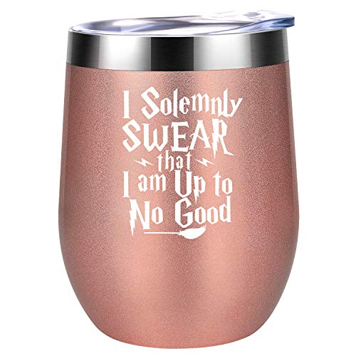 I Solemnly Swear that I Am up to No Good - HP Marauders Map Fans Merchandise Birthday, Christmas Wine Gifts Idea for Women, Mom, Best Friend, BFF, Sister, Wife, Coworker - Coolife Wine Tumbler Cup