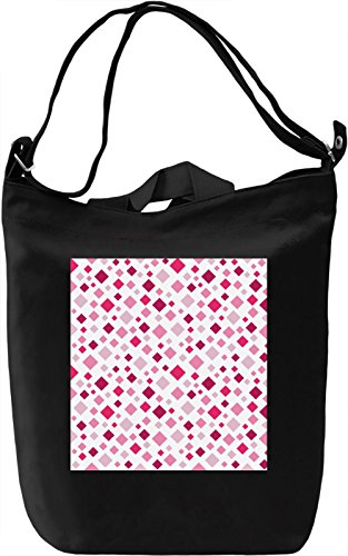 Hot Pink Geometrical Print Borsa Giornaliera Canvas Canvas Day Bag| 100% Premium Cotton Canvas| DTG Printing|