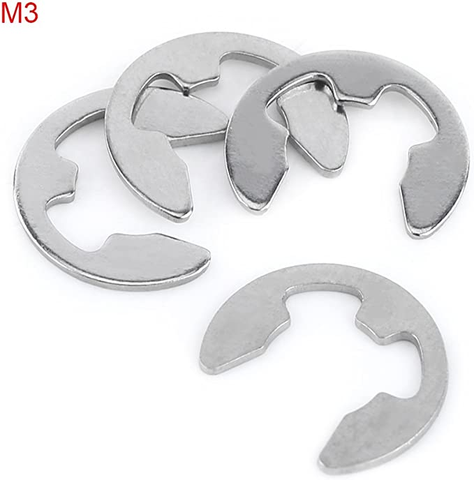 Stainless Steel E Snap Rings Retaining Rings SE-11SS 7//64 Qty 250