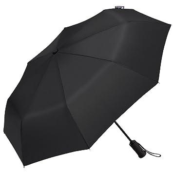 Paraguas plegable automático Richoose con luz LED, compacto, ideal para viaje, resistente al