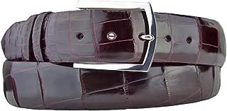 product image for Burgundy American Alligator Belt Strap with Sterling Silver Belt Buckle