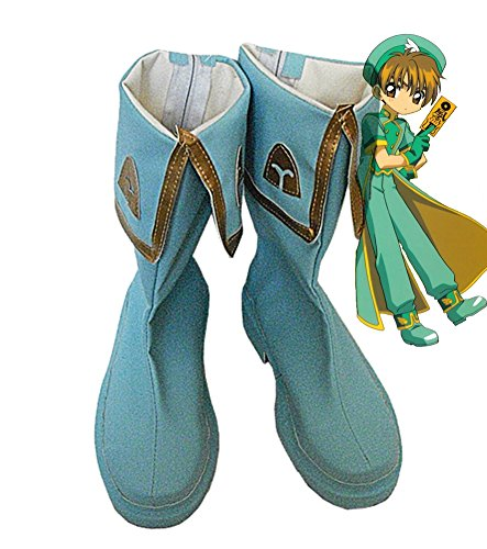Sakura Syaoran Li Cosplay Zapatos Botas Custom Made Blue