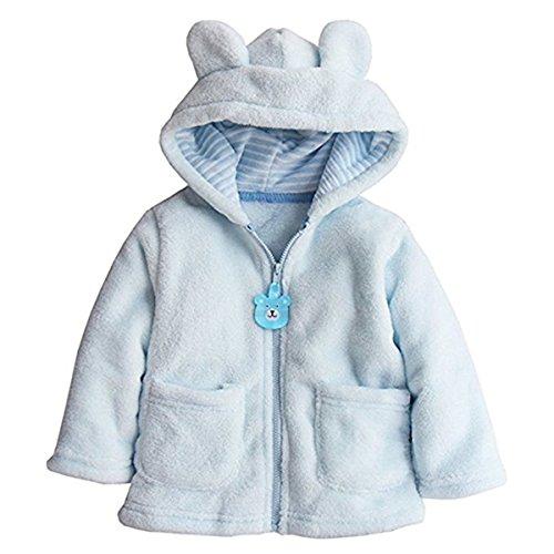 Baby Toddler Kid Little Boys Girls Super Soft Fleece Cartton Bear Hooded Coats Blazers Jackets 6-12 Months by REWANGOING