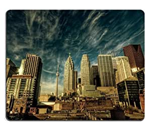 New York Skyscrapers Cityscape Scenery Mouse Pads Customized Made to Order Support Ready 9 7/8 Inch (250mm) X 7 7/8 Inch (200mm) X 1/16 Inch (2mm) High Quality Eco Friendly Cloth with Neoprene Rubber Luxlady Mouse Pad Desktop Mousepad Laptop Mousepads Comfortable Computer Mouse Mat Cute Gaming Mouse pad
