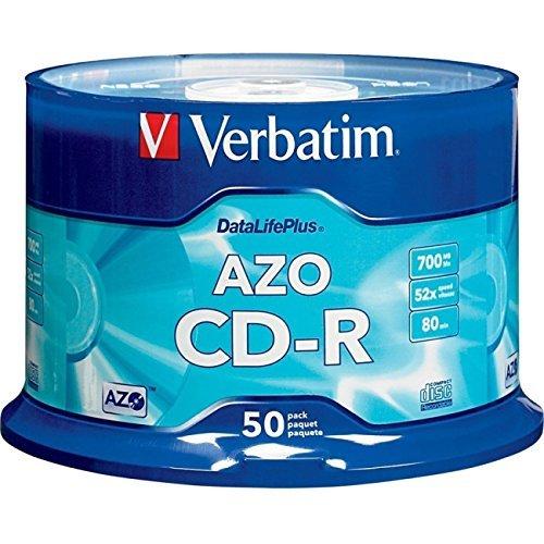 Price comparison product image VERBATIM 94523 700MB 80-Minute 52x DataLifePlus CD-Rs, Branded 50-ct Spindle