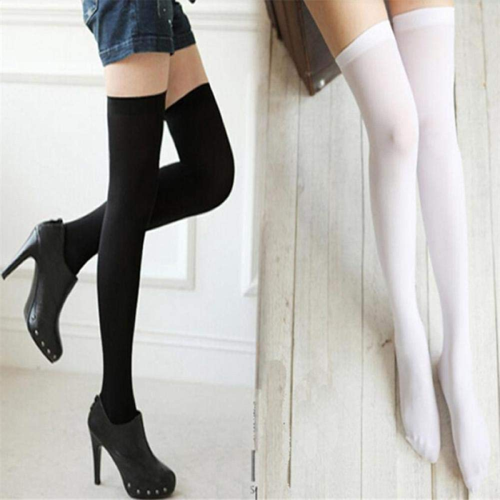 BCDshop Women Fashion Over Knee Thigh High Stocking Sexy Stretch Long Compression Socks (Black) at Amazon Womens Clothing store: