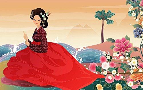 makeuseof 24X36 INCH / ART SILK POSTER / artistic art artwork women female girls girl woman asian korean korea oriental by (Korean Movie Poster)