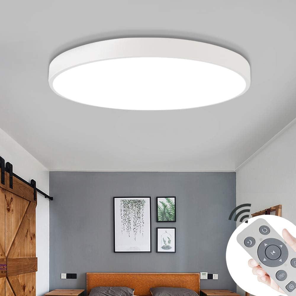 Energieklasse A++ COOSNUG 36W LED Deckenleuchte Dimmbar Schwarz Rund Deckenlampe Wohnzimmer K/üche Panel Lampe Deckenbeleuchtung