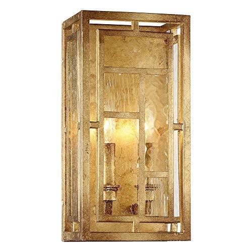 Metropolitan N6472-293 Edgemont Park Wall Sconce, 2-Light 120 Total Watts, Pandora Gold Leaf - Light 2 Edgemont