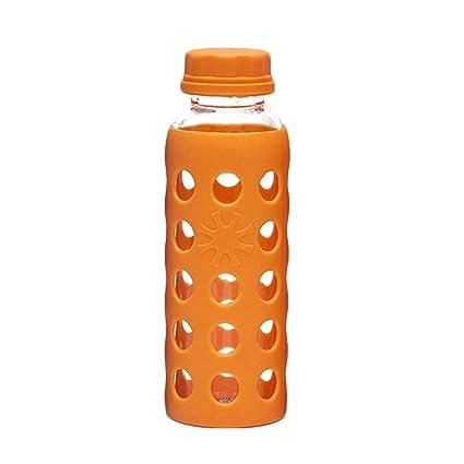 BESTONZON Vidrio de borosilicato Botella de Agua Té Café Jugo Leche Botella para Beber para la