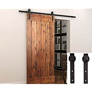 Penson & Co. Sliding Barn Door Hardware Set Black 6.6 FT - Antique Style