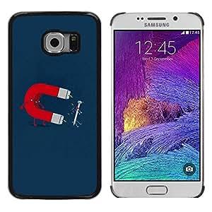 Smartphone Rígido Protección única Imagen Carcasa Funda Tapa Skin Case Para Samsung Galaxy S6 EDGE SM-G925 Funny Magnet & Nail / STRONG