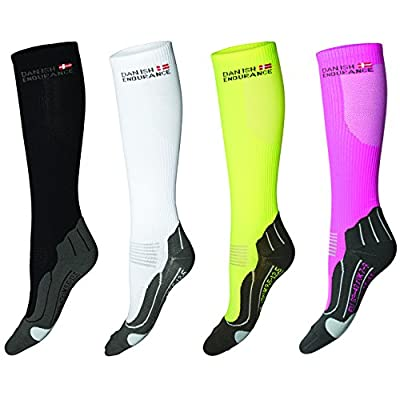 Graduated Compression Socks by DANISH ENDURANCE// For Men & Women // Boost Performance, Speed Up Recovery, Better Blood Circulation // For All Sports, Flight, Air Travel, Nurse, Medical Use // 1 Pair by DANISH ENDURANCE