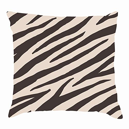 Mblue Throw Pillow Covers Seamless Pattern Brown Zebra Tiger Animals Wildlife Abstract Animals Wildlife Backgrounds Textures Abstract Backgrounds Textures Cushion Case 18 x 18 Inch 45 x 45 cm Brown Zebra Oblong Pillow