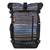 Ethnotek Raja Backpacking Backpack Pack | Hand Woven Tribal Fabric | Large 46L