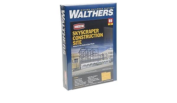 Skyscraper Construction Site Kit Walthers 8-5//8 X 10-9//16 X 5-3//4 21.9 X 26.8 X 14.6cm Inc
