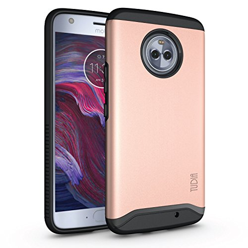 Moto X4 Case, Slim-Fit Heavy Duty [Merge] Extreme Protection/Rugged but Slim Dual Layer Case for Motorola Moto X4 / Android One Moto X4 (Rose - Cases Android