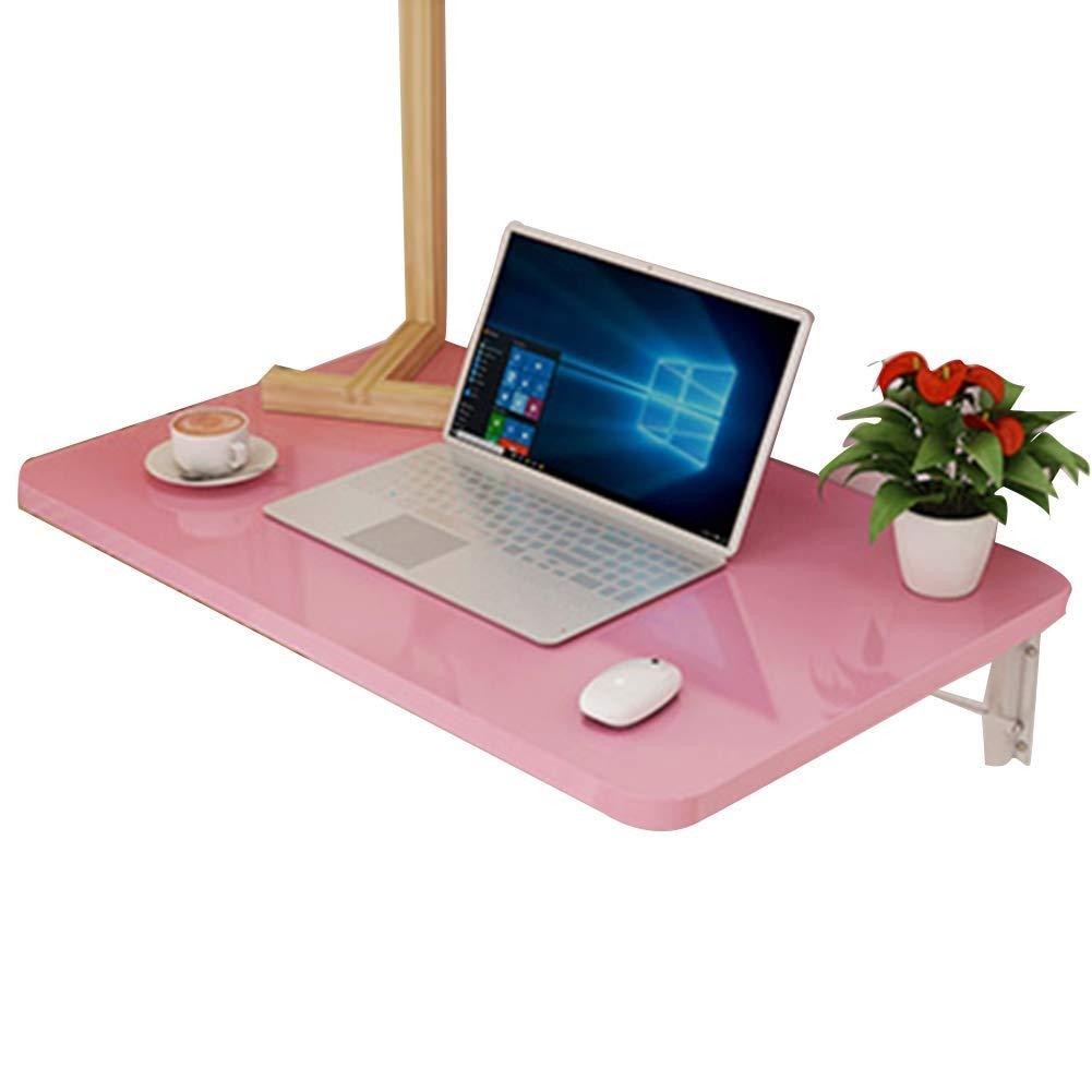 折りたたみ テーブル 多機能 キッチン カウンタートップ 壁掛けテーブル 5色、 10サイズ GAOFENG (色 : ピンク, サイズ さいず : 50x30CM) 50x30CM ピンク B07RSK5LC6