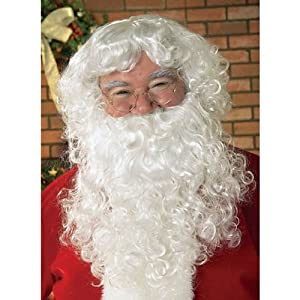 Rubie's Men's Value Santa Beard and Wig Set, White, One Size