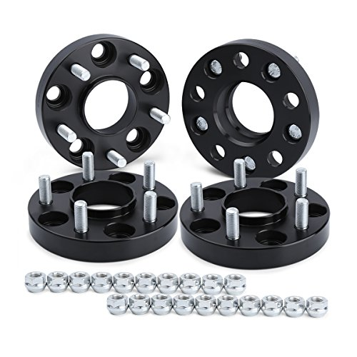 dynofit 5x4.5 Wheel Spacers for 300ZX 350Z 370Z Altima Leopard G35 G37 FX35 S14 and More, 4Pcs 25mm 5x114.3 Hubcentric Forged Wheels Spacer 66.1mm Hub Bore M12x1.25 for Nissan Infiniti 5 Lug Rims