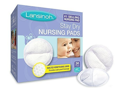 [Lansinoh Stay Dry Nursing Pads Medium 36 Each ( Pack of 2)] (Elite Breast Pump)