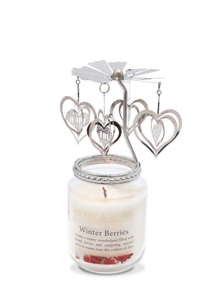 Piccolo cuore di Natale giostra to fit Heart & home vasetto candela.