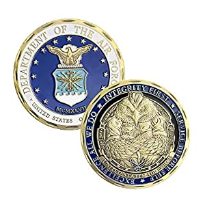 U.S.AF Core Values Air Force Military Challenge Coin from Jia Ying Xin