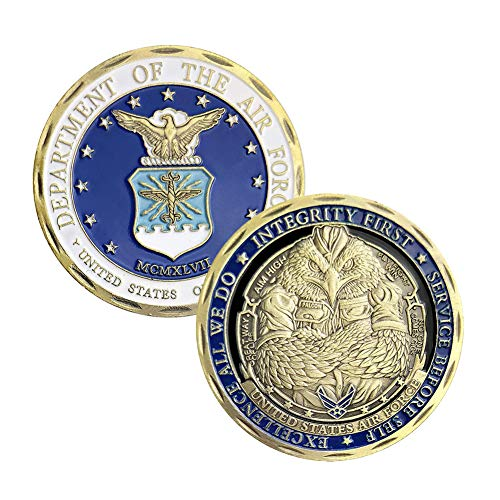 U.S.AF Core Values Air Force Military Challenge - Air Coin Force