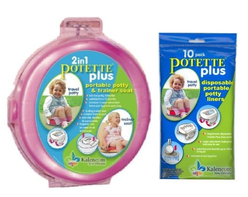 potette-plus-travel-potty-includes-extra-10-pack-of-liners-green-pink