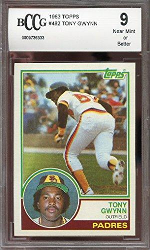 - 1983 topps #482 TONY GWYNN san diego padres rookie card BGS BCCG 9 Graded Card