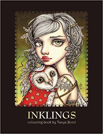 Cheap INKLINGS Colouring Book By Tanya Bond Coloring For Adults Children Featuring 24 Single