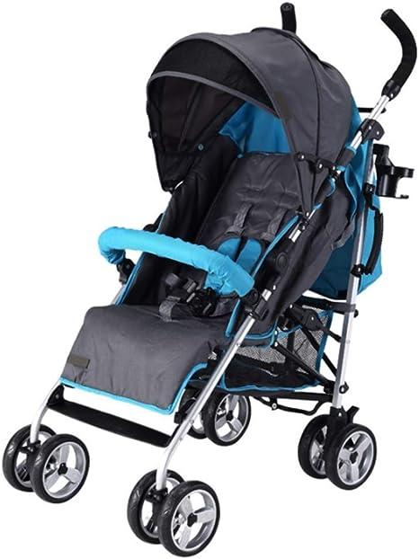 Opinión sobre Cochecito de bebé, Cochecito de aleación de Aluminio portátil Plegable Ligero, reclinable a Prueba de Golpes también Puede Sentarse en el Cochecito para niños
