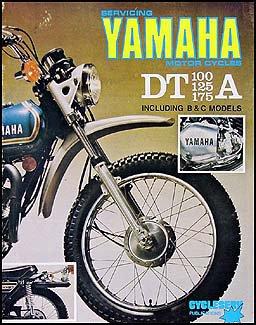 1974 1976 yamaha dt 100  125  175 cycleserv repair shop manual enduro motorcycle yamaha amazon Manual Book Chilton Repair Manual