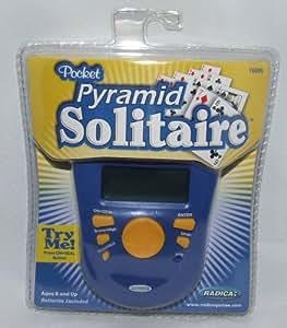 Radica Pocket Pyramid Solitaire Handheld Game
